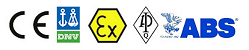 CE, ATEX, DNV, ABS, API certification verified