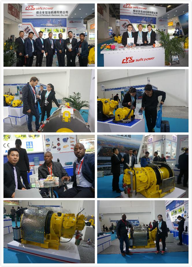 10 Ton air winch manufacturer at exhibition